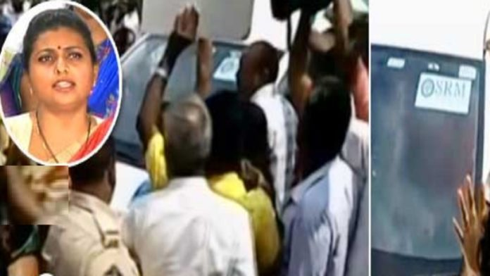 'పెయిడ్ రగడ: వైసీపీ ఎమ్మెల్యే రోజాకి 'అమరావతి' సెగ.!
