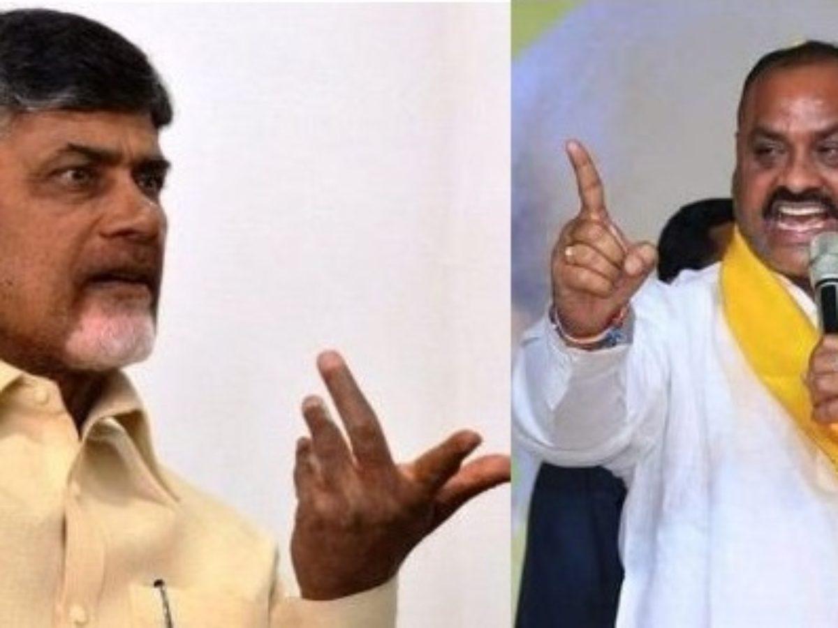 Chandrababu against Atchennaidu release from hospital