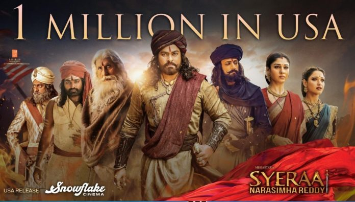 Us Bo Report: Sye Raa Reaches $ 1 Million Mark On Day One!