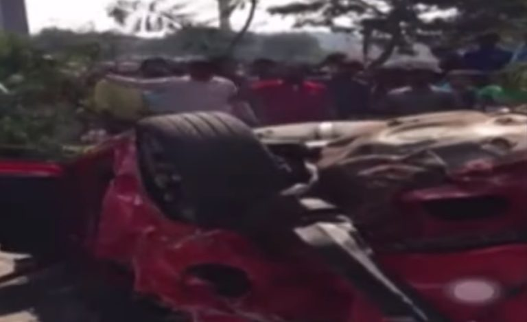 Video: CCTV Footage of Bio Diversity Flyover Car Accident
