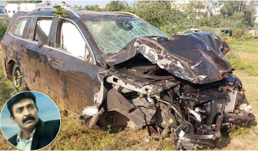 Rajasekhar Escapes Another Accident, Car Damaged