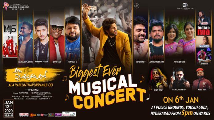Live Updates: Ala Vaikunthapurramuloo Musical Concert