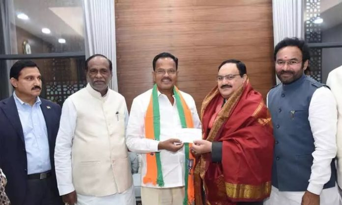 Motkupalli Joined Bjp After Leaving Tdp