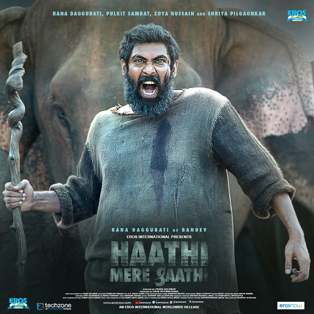 First Look: Rana Daggubati As Bandev In Haathi Mere Saathi Movie