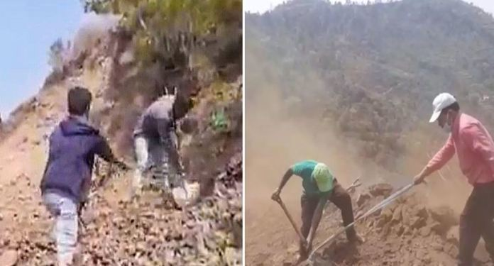 What An Inspiration.. Village Builds Road During Lockdown