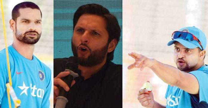 Raina And Dhawan Gave Tight Slaps To Pakistan's Shahid Afridi