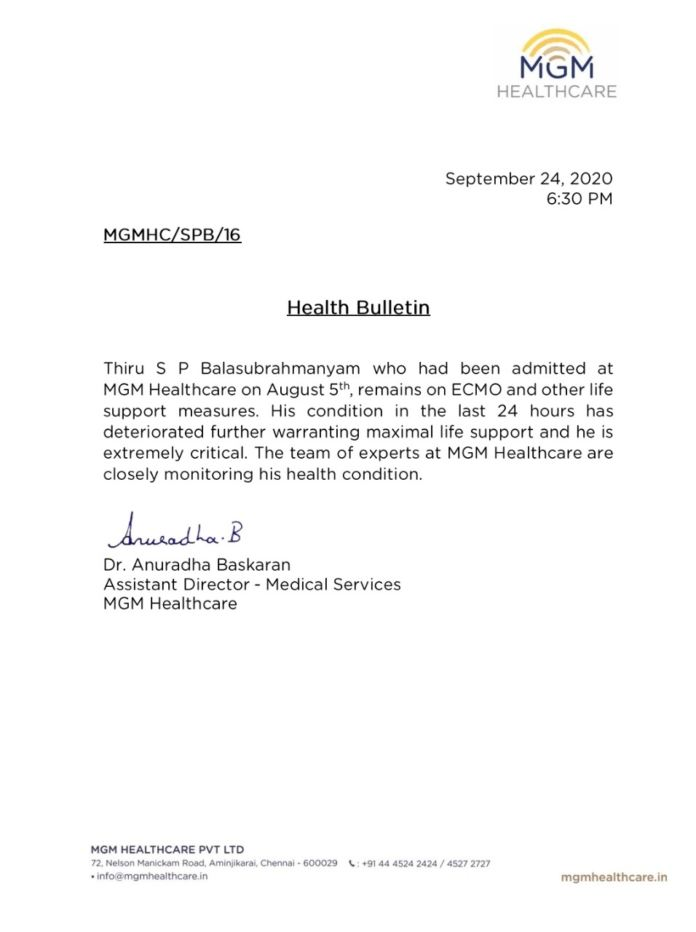 Spb Latest Health Bulletin: 'extremely Critical' Condition