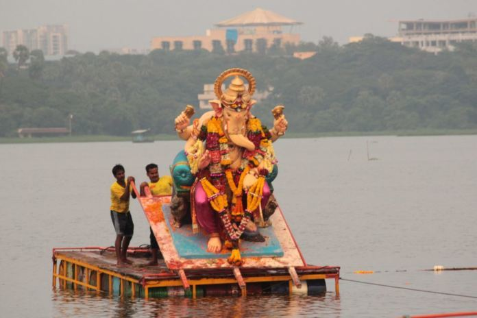 Ganesh Immersion Goes Off Peacefully Amid High Security In Hyderabad