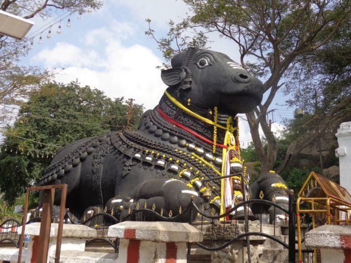 Nandi Idol Vandalised By An Anonymous Group In Ap!