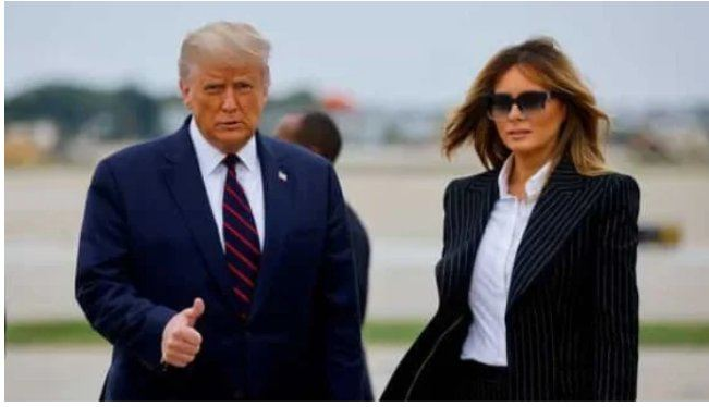 Covid-19: Us President Donald Trump And First Lady Melania Tests Positive