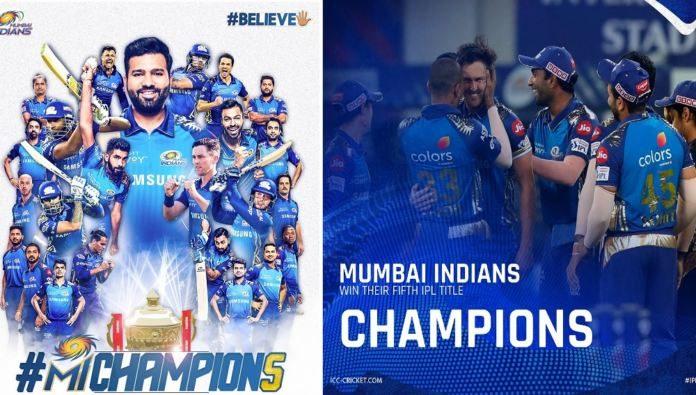 Mumbai Indians Are The Winners Of Ipl 2020