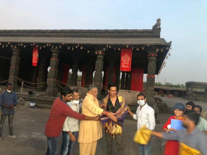 Siva Koratala & Tanikella Bharani Felicitated Sonu Sood On The Sets Of Acharya