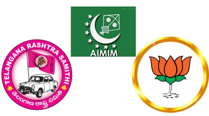 Trs-bjp United Against Mim Ahead Of Ghmc Polls..!