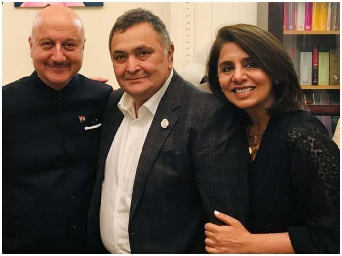 Anupam Kher Reminisces Rishi Kapoor After Meeting Neetu Kapoor