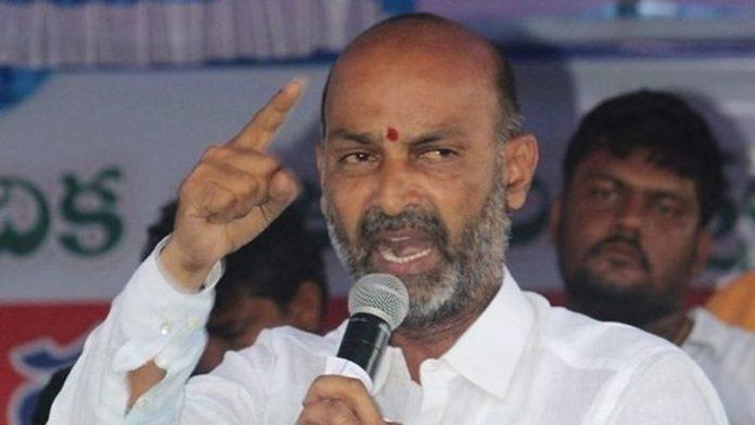 Bandi Sanjay outraged at CM KCR