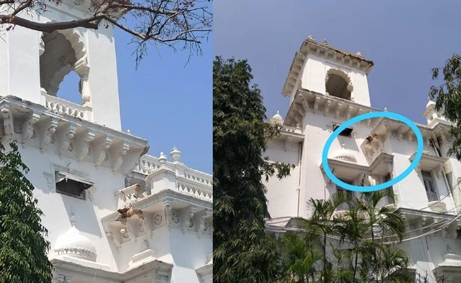 The Roof Of Telangana Assembly Building Was Collapsed