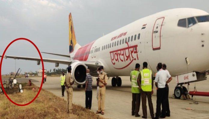 Air India Flight Hits Electric Pole At Vijayawada Airport