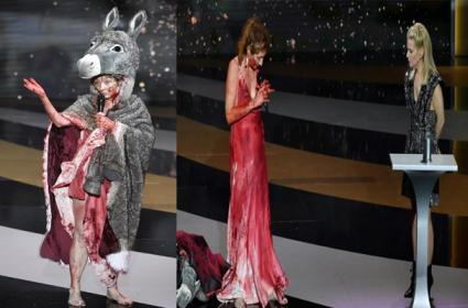 Corinne Masiero: Actress protests naked at French Oscars
