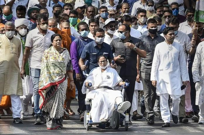 Bjp Getting Scared As Mamta Campaigns With A Leg Injury
