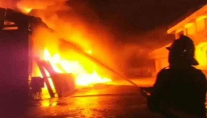 A massive fire broke out in Corona Hospital in Vasai, 12 people died