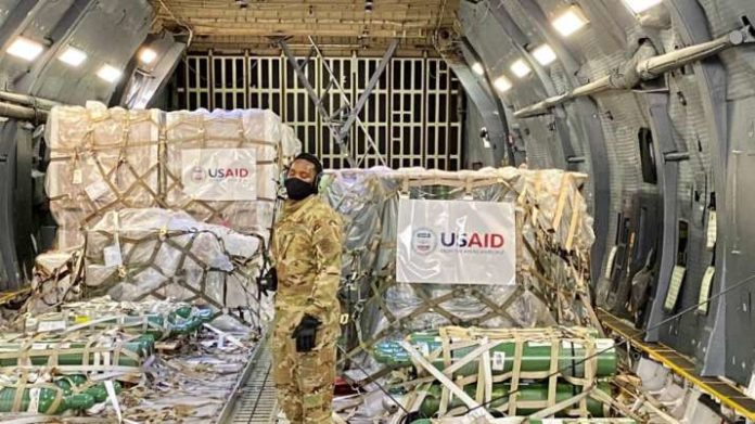 First Emergency Covid-19 Relief Supplies From The Us Arrive