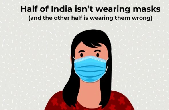 Union Health Ministry Quotes That Half Of The India's Population Isn't Wearing A Mask!