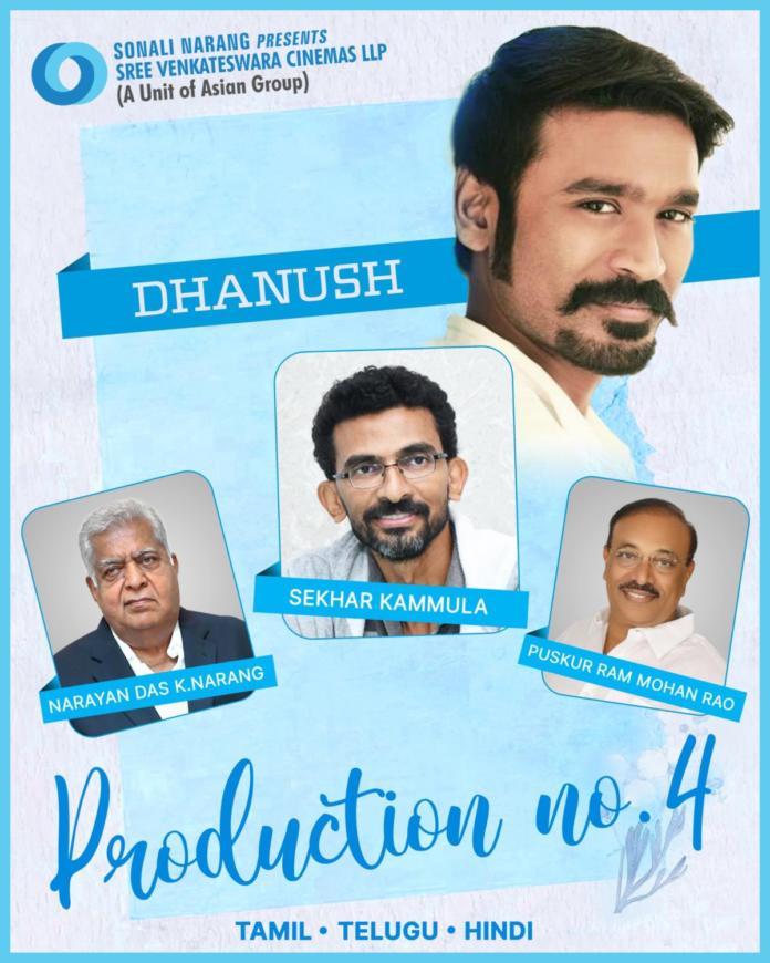 Big News: Dhanush-sekhar Kammula's Pan-india Film