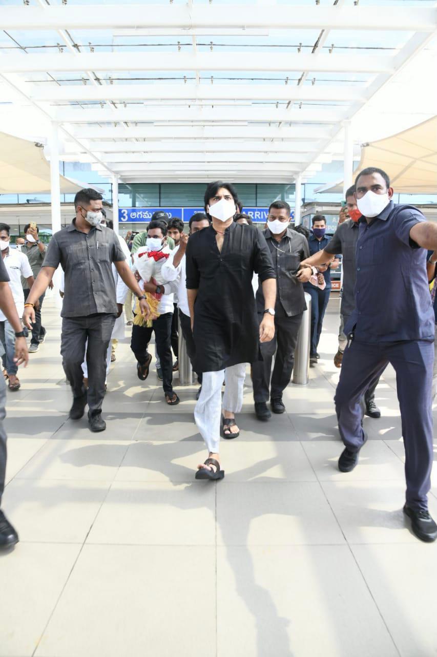 Pawan Kalyan Latest Pics At Gannavaram Airport