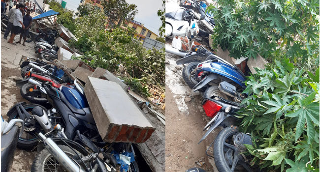 50 Bikes Damaged After Wall Of Theatre Collapses In Hyderabad